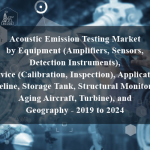 Acoustic Emission Testing Market by Equipment (Amplifiers, Sensors, Detection Instruments), Service (Calibration, Inspection), Application (Pipeline, Storage Tank, Structural Monitoring, Aging Aircraft, Turbine), and Geography - 2019 to 2024