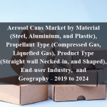 Aerosol Cans Market by Material (Steel, Aluminium, and Plastic), Propellant Type (Compressed Gas, Liquefied Gas), Product Type (Straight wall, Necked-in, and Shaped), End-user Industry, and Geography - 2019 to 2024