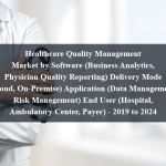 Healthcare Quality Management Market by Software (Business Analytics, Physician Quality Reporting) Delivery Mode (Cloud, On-Premise) Application (Data Management, Risk Management) End User (Hospital, Ambulatory Center, Payer) - 2019 to 2024