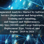 Augmented Analytics Market by Software, Service (Deployment and Integration, Training and Consulting, and Support and Maintenance), Entity Size (MSMEs and Large Enterprises), Deployment Type, Vertical, and Region - 2019 to 2024