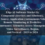 Edge AI Software Market by Component (Services and Solutions), Data Source, Application (Autonomous Vehicles, Remote Monitoring & Predictive Maintenance, Telemetry Access Management, Video Surveillance), Region, and Vertical - 2019 to 2024