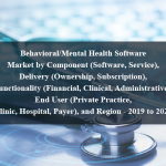Behavioral/Mental Health Software Market by Component (Software, Service), Delivery (Ownership, Subscription), Functionality (Financial, Clinical, Administrative), End User (Private Practice, Clinic, Hospital, Payer), and Region - 2019 to 2024