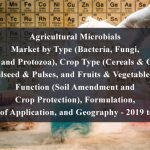 Agricultural Microbials Market by Type (Bacteria, Fungi, Virus, and Protozoa), Crop Type (Cereals & Grains, Oilseed & Pulses, and Fruits & Vegetables), Function (Soil Amendment and Crop Protection), Formulation, Mode of Application, and Geography - 2019 to 2024