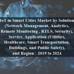 IoT in Smart Cities Market by Solution (Network Management, Analytics, Remote Monitoring , RTLS, Security), Service, Application (Utilities, Healthcare, Smart Transportation, Buildings, and Public Safety), and Region - 2019 to 2024