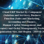 Cloud ERP Market by Component (Solution and Services), Business Function (Sales and Marketing, Accounting and Finance, Human Capital Management, and Inventory and Order Management), Vertical, Organization Size, and Region - 2019 to 2024