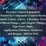 Pressure Control Equipment Market by Component (Control Heads, Quick Unions, Valves, Christmas Trees, Wellhead Flanges, and Adapter Flanges), Type (Low, High), Application (Offshore, Onshore), and Region - 2019 to 2023