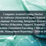Computer Assisted Coding Market by Software (Structured Input, Natural Language Processing, Integrated Systems), Service (Education, Support, Training), Application (Automated Encoding, Clinical Coding Audit, Management Reporting) - 2019 to 2024