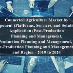 Connected Agriculture Market by Component (Platforms, Services, and Solution, ), Application (Post-Production Planning and Management, In-Production Planning and Management, and Pre-Production Planning and Management), and Region - 2019 to 2024