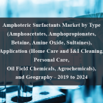 Amphoteric Surfactants Market by Type (Amphoacetates, Amphopropionates, Betaine, Amine Oxide, Sultaines), Application (Home Care and I&I Cleaning, Personal Care, Oil Field Chemicals, Agrochemicals), and Geography - 2019 to 2024