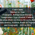 Cold Chain Market by Type (Transport, Refrigerated Storage), Temperature Type (Frozen, Chilled), Application (Dairy & Frozen Desserts, Bakery & Confectionery, Seafood, Fruits & Vegetables), and Geography - 2019 to 2024