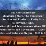 End User Experience Monitoring Market by Component (Services and Products), Entity Size, Deployment Type, Vertical (IT and Telecommunications, BFSI, and Public Sector and Government), Access Type (Mobile and Web), and Region - 2019 to 2024