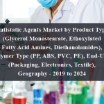 Antistatic Agents Market by Product Type (Glycerol Monostearate, Ethoxylated Fatty Acid Amines, Diethanolamides), Polymer Type (PP, ABS, PVC, PE), End-User (Packaging, Electronics, Textile), Geography - 2019 to 2024