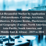 1,6-Hexanediol Market by Application (Polyurethanes, Coatings, Acrylates, Adhesives, Polyester Resins, Plasticizers), and Geography (Europe, North America, Asia-Pacific, South America, and Middle East & Africa) - 2019 to 2024