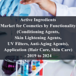 Active Ingredients Market for Cosmetics by Functionality (Conditioning Agents, Skin Lightening Agents, UV Filters, Anti-Aging Agents), Application (Hair Care, Skin Care) - 2019 to 2024