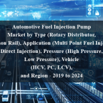Automotive Fuel Injection Pump Market by Type (Rotary Distributor, Common Rail), Application (Multi Point Fuel Injection, Direct Injection), Pressure (High Pressure, Low Pressure), Vehicle (HCV, PC, LCV), and Region - 2019 to 2024