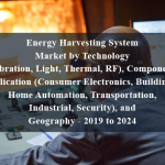 Energy Harvesting System Market by Technology (Vibration, Light, Thermal, RF), Component, Application (Consumer Electronics, Building & Home Automation, Transportation, Industrial, Security), and Geography - 2019 to 2024