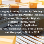 Packaging Printing Market by Printing Ink (UV-Based, Aqueous), Printing Technology (Gravure, Flexography, Digital), Material (Plastic, Paper & Paperboard), Application (Cosmetics, Pharmaceutical, Food & Beverage), and Geography - 2019 to 2025