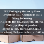 PET Packaging Market by Form (Crystalline PET, Amorphous PET), Filling Technology (Cold fill, Hot fill, Aseptic fill, others), Pack type (Bags & pouches, Bottles & jars, Trays, Lids/Caps & closures, others), End-user industry - 2019 to 2024