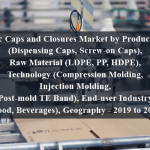 Plastic Caps and Closures Market by Product Type (Dispensing Caps, Screw-on Caps), Raw Material (LDPE, PP, HDPE), Technology (Compression Molding, Injection Molding, Post-mold TE Band), End-user Industry (Food, Beverages), Geography - 2019 to 2024