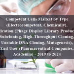 Competent Cells Market by Type (Electrocompetent, Chemically), Application (Phage Display Library Production, Subcloning, High-Throughput Cloning, Unstable DNA Cloning, Mutagenesis), End User (Pharmaceutical Companies, Academia) - 2019 to 2024