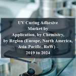 UV Curing Adhesive Market by Application, by Chemistry, by Region (Europe, North America, Asia-Pacific, RoW) - 2019 to 2024