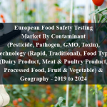 European Food Safety Testing Market By Contaminant (Pesticide, Pathogen, GMO, Toxin), Technology (Rapid, Traditional), Food Type (Dairy Product, Meat & Poultry Product, Processed Food, Fruit & Vegetable) & Geography - 2019 to 2024