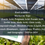 Feed Acidifiers Market by Type (Lactic Acid, Propionic Acid, Formic Acid, Sorbic Acid, Malic Acid, Citric Acid), Compound (Single, Blended), Form (Liquid, Dry), Livestock (Ruminants, Aquaculture, Poultry, Swine), and Geography - 2019 to 2024