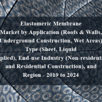 Elastomeric Membrane Market by Application (Roofs & Walls, Underground Construction, Wet Areas),Type (Sheet, Liquid Applied), End-use Industry (Non-residential, and Residential Construction), and Region - 2019 to 2024