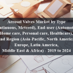 Aerosol Valves Market by Type (Continuous, Metered), End-user (Automotive, Home care, Personal care, Healthcare), And Region (Asia-Pacific, North America, Europe, Latin America, Middle East & Africa) - 2019 to 2024
