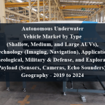 Autonomous Underwater Vehicle Market by Type (Shallow, Medium, and Large AUVs), Technology (Imaging, Navigation), Application (Archeological, Military & Defense, and Exploration), Payload (Sensors, Cameras, Echo Sounders), Geography - 2019 to 2024
