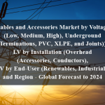 Cables and Accessories Market by Voltage (Low, Medium, High), Underground (Terminations, PVC, XLPE, and Joints)), LV by Installation (Overhead (Accessories, Conductors), LV by End-User (Renewables, Industrial), and Region - Global Forecast to 2024