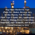 Bag Filter Market by Type (Pulse Jet, Shaker, Reverse Air), Media (Woven, Non-Woven), Fluid Type (Liquid, Air), Applications (Cement, Mining, Power Generation, Municipal, and Chemical), and Region - Global Forecast to 2024