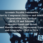 Accounts Payable Automation Market by Component (Services and Solution), Organization Size, Vertical (BFSI, IT and Telecom, Consumer Goods and Retail, and Manufacturing), Deployment Type, and Geography - 2019 to 2024