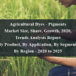 Agricultural Dyes - Pigments Market Size, Share, Growth, 2020, Trends Analysis Report By Product, By Application, By Segment, By Region - 2020 to 2025